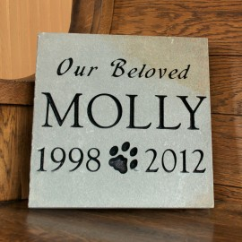 "Pet Marker: Black Granite 10""x6""x2"""